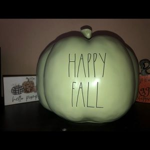 Rae Dunn Happy Fall Mint Green Large Pumpkin